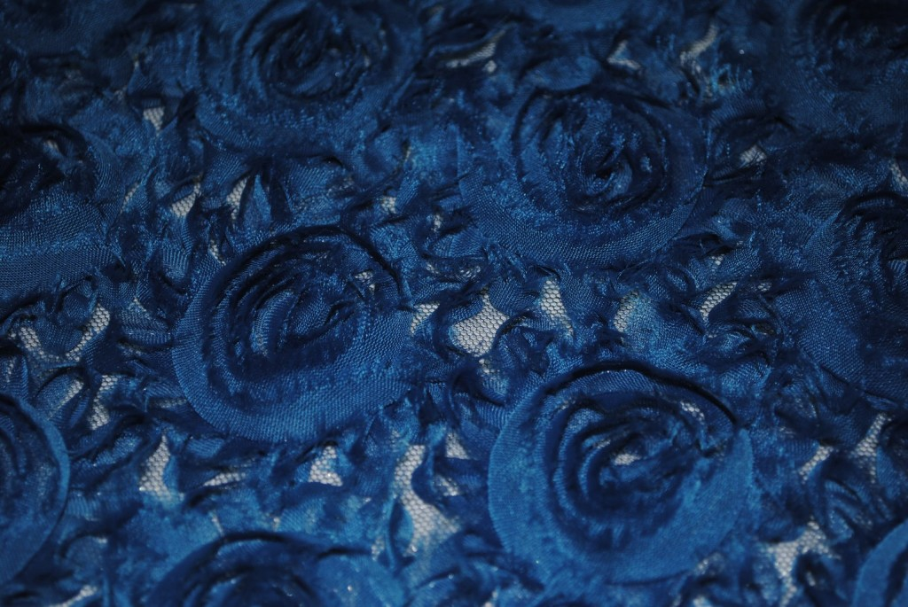 Teal georgette roses fabric fabric universe for Universe fabric