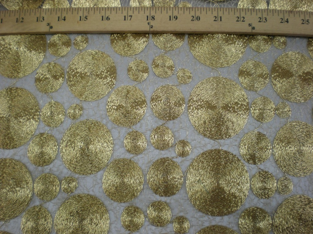 Gold Lace Vortex Fabric