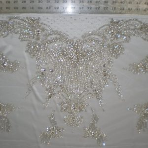 Quality White Bridal Beaded Lace