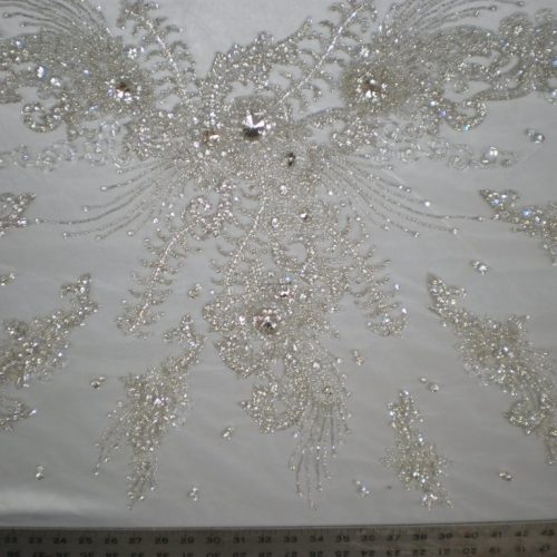 White Bridal Beaded Lace