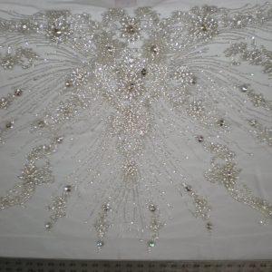 White Bridal Beaded Lace