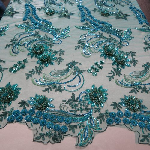 turquoise sequin fabric