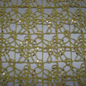 Gold embroidered with gold sequins - Fabric Universe