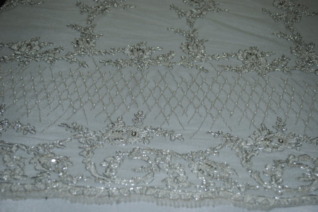 handcrafted beaded Lace fabric - Fabric Universe
