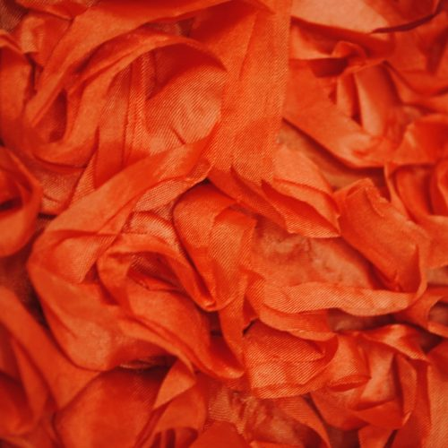 Orange taffeta ribbon fabric - Fabric Universe