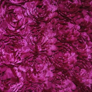 Fuchsia Sculptured Satin Roses on Satin Background