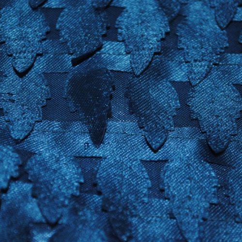 Turquoise miniature satin pine trees fabric - Fabric Universe