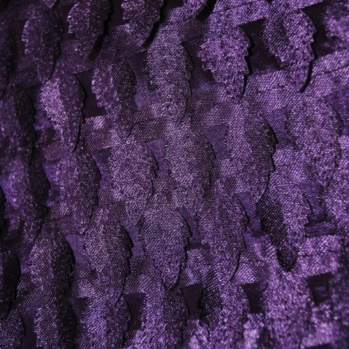 Purple miniature satin pine trees fabric - Fabric Universe