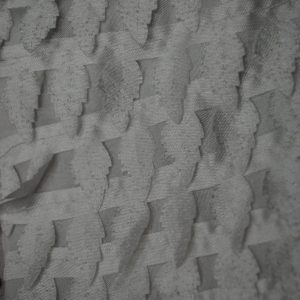 Ivory miniature satin pine trees fabric - Fabric Universe