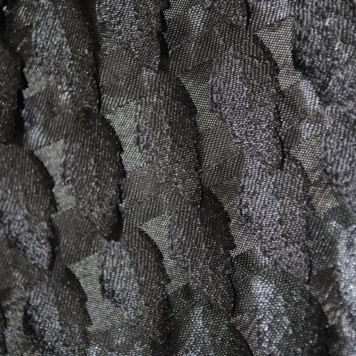 Silver miniature satin Pine trees fabric - Fabric Universe