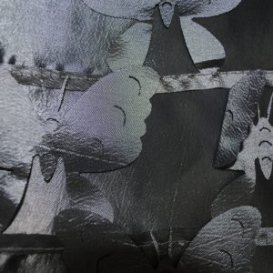 Charcoal butterflies fabric - Fabric Universe
