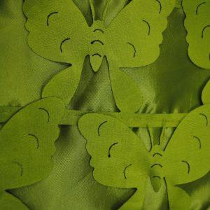 Green butterflies fabric - Fabric Universe