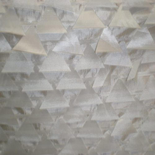 White laser cut triangles fabric - Fabric Universe