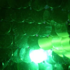Green shiny paillettes on mesh fabric - Fabric Universe