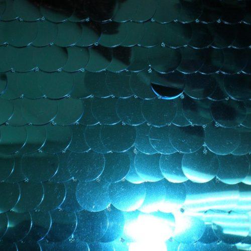 Turquoise Mermaid Sequin Fabric