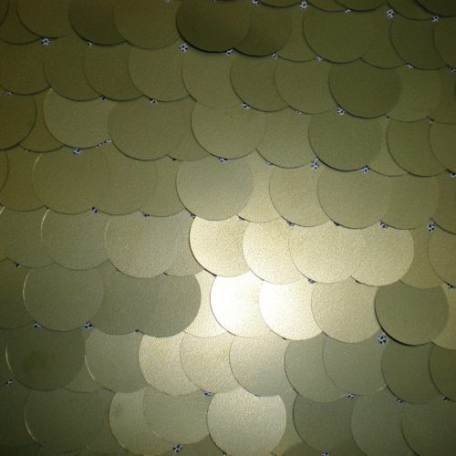 Olive paillettes on mesh fabric - Fabric Universe