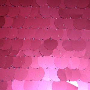 Fuchsia paillettes fabric on mesh - Fabric Universe