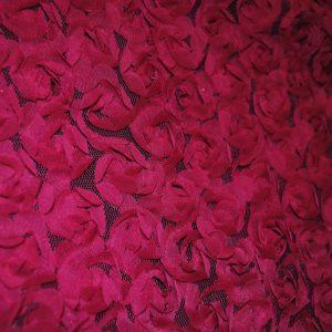 Fuchsia baby flowers on mesh ground fabric - Fabric Universe