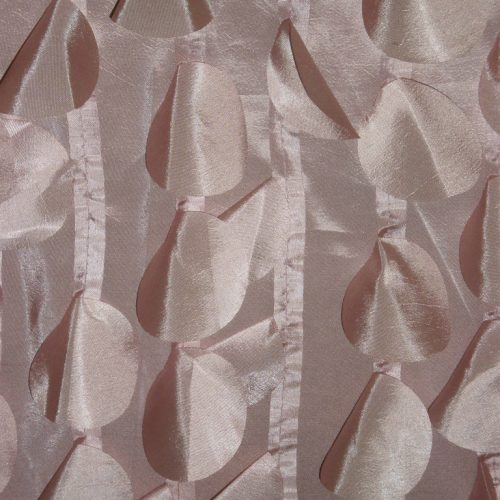 Rose laser-cut decorative circles fabric with high qualiy
