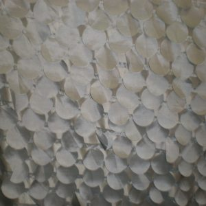 Silver laser-cut decorative circles fabric - Fabric Universe