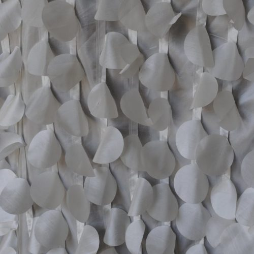 Ivory fabric with Circles from Fabric Universe
