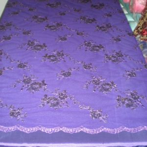 Floral Purple Sequin Mesh Fabric