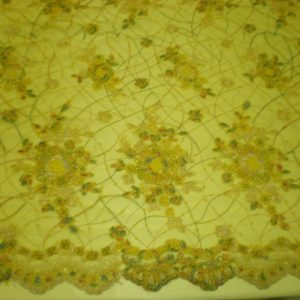 Yellow Hand Beaded Lace