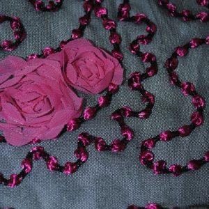 Fuchsia & Black Floral Lace